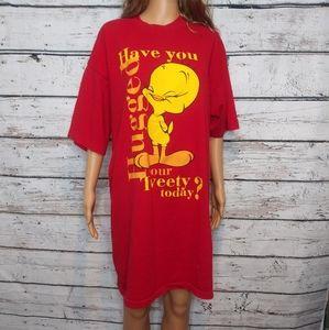 Vintage 90's Tweety Bird T Shirt/ One Size